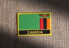 Bandierina dello Zambia. fotografie stock libere da diritti