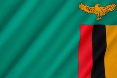 Bandierina dello Zambia immagini stock