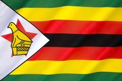 Bandierina dello Zimbabwe Fotografia Stock
