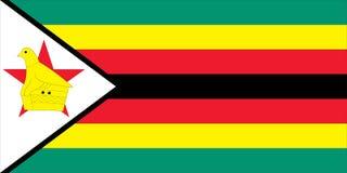 Bandierina dello Zimbabwe Fotografie Stock Libere da Diritti