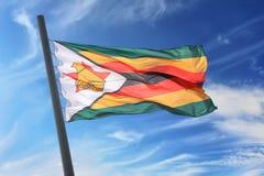 Bandierina dello Zimbabwe Immagini Stock