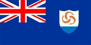 Bandierina di Anguilla Immagini Stock Libere da Diritti
