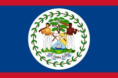 Bandierina di Belize Immagine Stock