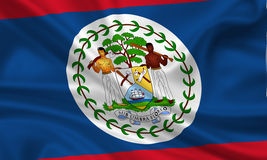 Bandierina di Belize Immagine Stock