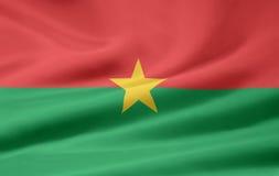 Bandierina di Burkina Faso Immagini Stock