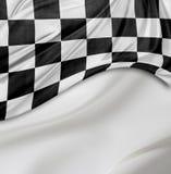 Bandierina di corsa Checkered fotografia stock