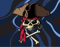 Bandierina di Crossbones & del cranio illustrazione di stock