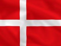 Bandierina di Danmark Immagine Stock