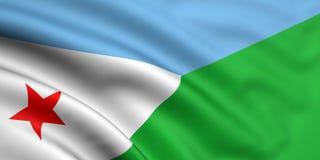 Bandierina di Djibouti Immagini Stock Libere da Diritti
