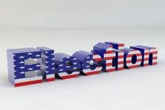 Bandierina di elezione degli Stati Uniti Fotografie Stock Libere da Diritti