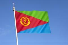 Bandierina di Eritrea Immagini Stock Libere da Diritti