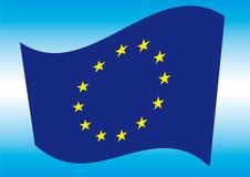 Bandierina di Europa Fotografia Stock