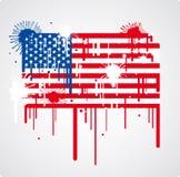 Bandierina di fusione degli S.U.A. Fotografie Stock Libere da Diritti