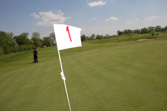 Bandierina di golf Fotografie Stock