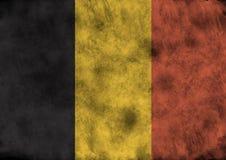 Bandierina di Grunge Belgio Fotografie Stock Libere da Diritti