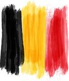 Bandierina di Grunge Belgio Fotografia Stock