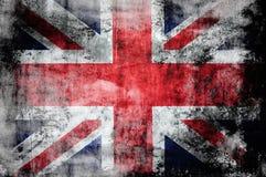 Bandierina di Grunge britannici Fotografia Stock Libera da Diritti