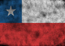 Bandierina di Grunge Cile Fotografia Stock Libera da Diritti