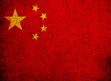 Bandierina di Grunge Cina Immagini Stock