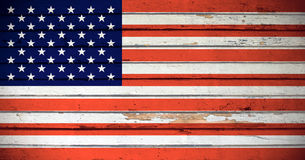 Bandierina di Grunge degli S.U.A. Immagine Stock