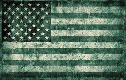 Bandierina di Grunge degli S.U.A. Immagini Stock