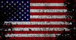 Bandierina di Grunge degli S.U.A. Fotografie Stock