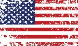 Bandierina di Grunge degli Stati Uniti Fotografie Stock