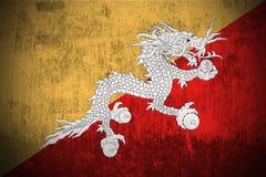 Bandierina di Grunge del Bhutan Immagini Stock Libere da Diritti