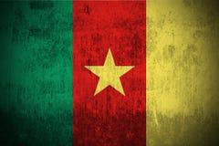 Bandierina di Grunge del Cameroun Immagine Stock