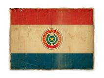 Bandierina di Grunge del Paraguay Immagine Stock