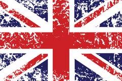 Bandierina di Grunge del Regno Unito Fotografie Stock