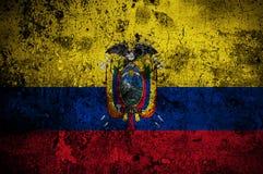 Bandierina di Grunge dell'Ecuador Fotografie Stock