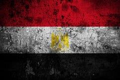 Bandierina di Grunge dell'Egitto Fotografia Stock Libera da Diritti