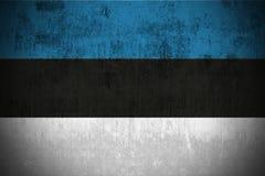 Bandierina di Grunge dell'Estonia illustrazione di stock