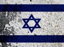 Bandierina di Grunge dell'Israele Fotografia Stock