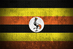 Bandierina di Grunge dell'Uganda Immagine Stock