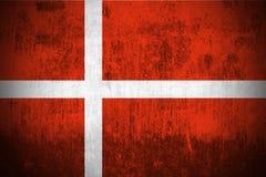 Bandierina di Grunge della Danimarca royalty illustrazione gratis