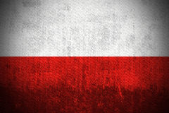 Bandierina di Grunge della Polonia illustrazione di stock