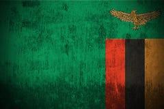 Bandierina di Grunge dello Zambia Immagine Stock