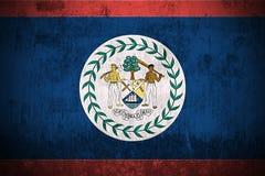 Bandierina di Grunge di Belize Fotografia Stock