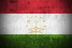 Bandierina di Grunge di Tajikistan Fotografie Stock Libere da Diritti