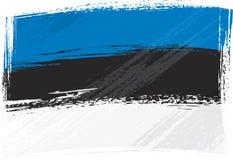 Bandierina di Grunge Estonia illustrazione vettoriale