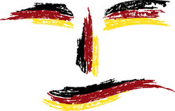 Bandierina di Grunge Germania Fotografia Stock