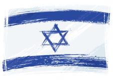 Bandierina di Grunge Israele Immagini Stock