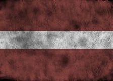 Bandierina di Grunge Latvia Fotografie Stock