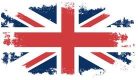 Bandiera del Regno Unito di lerciume Immagine Stock