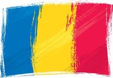 Bandierina di Grunge Romania Immagini Stock