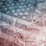 Bandierina di Grunge S.U.A. Fotografia Stock Libera da Diritti