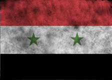 Bandierina di Grunge Siria Immagini Stock Libere da Diritti
