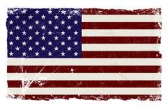 Bandierina di Grunge Stati Uniti Fotografie Stock